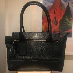 Black pebbled leather Kate Spade bag w/ tassel